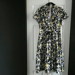 Karin Stevens Women Floral Aline Dress Size 10